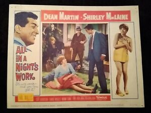 All In A Night's Work 1961 Vintage (11x14) Lobby Card #3 Shirley MacLaine