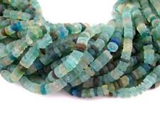 Roman Glass Cylinder Heishi Beads 5mm Afghanistan Green 15 Inch Strand beads