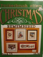 Puckerbrush Christmas Remembered Cross Stitch Pattern Booklet 1986 5 Designs