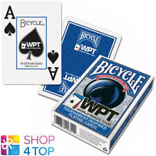 BICYCLE WPT WORLD POKER TOUR JUMBO INDEX PLAYING CARDS DECK BLUE USA NEW