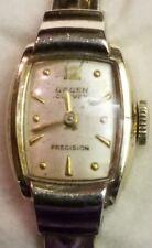 Vintage GRUEN CURVEX 10K Gold Filled Wrist Watch 12K Gold Filled Band Serviced