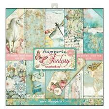 "Stamperia Wonderland 12"" x 12"" Double Sided Paper Pad Unicorns Fairy Scrapbook"
