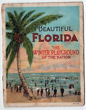 RARE 1910s BEAUTIFUL FLORIDA Curt Teich WINTER PLAYGROUND Miami ORLANDO Tampa