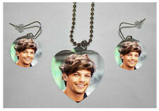 "LOUIS TOMLINSON #2 ""ONE DIRECTION"" Band Photo Charm Necklace & Earring Set"