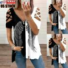 Sexy Women Casual Cold Shoulder Blouse T-shirt Ladies Summer Swing Tee Tunic Top