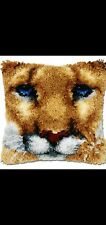 New listing Latch Hook Pillow Kit - 15.7 X 15.7 Inches - Lioness Face