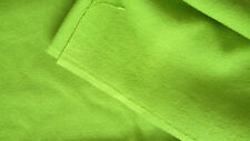 Bright green fabric remnant textured fabric with stretch, sewing crafts neon