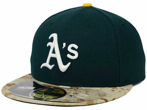 Official 2015 MLB Oakland Athletics A's Memorial Day New Era 59FIFTY Fitted Hat