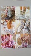 Sirdar Knitting Pattern #9135 Family Socks, Leg Warmers & Wrist Warmers to Knit