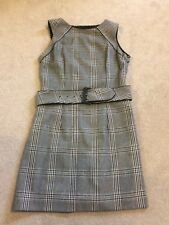 Zara Check Tailored Wool Dress with Belt M