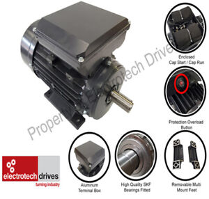 Single Phase Electric Motor 0.18kw- 4kw 240v 1400rpm & 2800rpm B3 B5 B14 B34 B35