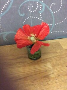 Small Vase With Poppy Inside