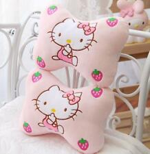 Cute Hello Kitty Plush Car Seat Head Rest Cushion Pillows Neck Rest Pillow 2pcs