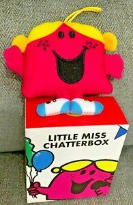 Little Miss Chatterbox Mcdonalds Mr Men 2021 Soft Toy Bag Tag UK New Box
