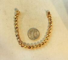 Fresh Smaller 5 3/8 Inch 18 Kt Yellow Gold Bracelet From Estate  Free USA Ship