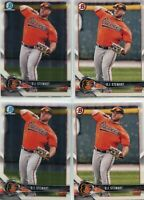 LOT (7) RC D.J. STEWART BALTIMORE ORIOLES - 2018 BOWMAN & BOWMAN CHROME - 3582