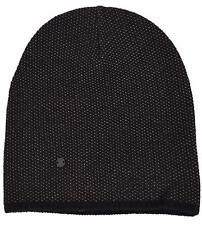 New Gucci 352350 Men's Black Beige Wool Cashmere Beanie Ski Winter Hat M