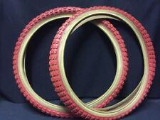 Nos Vintage Duro Comp 2 Red Skinwall BMX  tires 20 X 1.75 Kuwahara Gt Redline Se