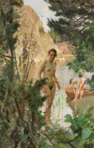 Anders Zorn Painting 8 Poster Reproduction Paintings Giclee Canvas Print