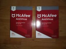 McAfee AntiVirus 2017 FREE CURRENT YEAR UPGRADE  1 Device 1yr NIB PC LOT OF 2