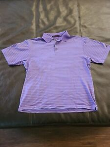 Nike Dri Fit Tiger Woods Collection Short Sleeve Golf Polo Shirt Men's Sz Large