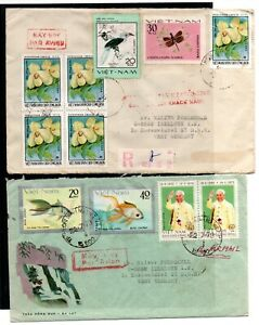 VIETNAM , 1978 , 1979 , two nice covers to Germany , LOOK !