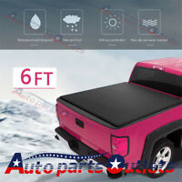 "72"" For Toyota Tacoma 2005-2015 Lock Soft Tonneau Cover Short Bed 6ft Roll Up"