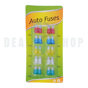 AUTO FUSES - PACK OF 10