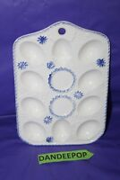 Vintage Ceramic Deviled Egg Holder Tray For 10