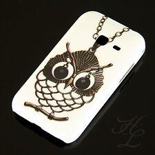Samsung Galaxy Ace Duos S6802 Hard Case Handy Hülle Etui Kette Eule Owl