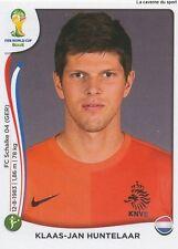 N°144 KLAAS-JAN HUNTELAAR # NETHERLANDS STICKER PANINI WORLD CUP BRAZIL 2014