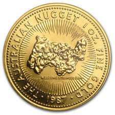 1987 1 oz Gold Australian Nugget Coin - SKU #82263