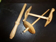 Kromski Niddy Noddy Notespinne and Drop Spindle Set Clear