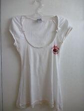 D&G Dolce & Gabbana Underwear Tshirt/Top bianca a costine  Taglia M