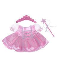 "Rose Fée Princesse Costume Teddy Bear Vêtements se adapte 15"" Build a Bear"