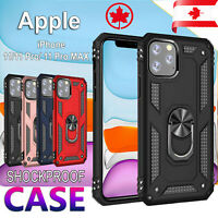 For iPhone 11 Pro XS Max SE 2020 XR 7 8 Plus Case Heavy Duty Magnetic Ring Cover