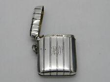 Edwardian Solid Silver Cohen & Charles Reeded Vesta Case 1907 London