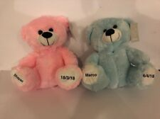 Teddy Bear Personalised Newborn Gift Baby Gift Christening Teddy Pink Blue