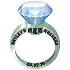 Personalised Diamond Engagement Ring Selfie Photo Frame Hen Party Booth Prop