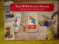 1 X WW1 INGOT/COIN WITH CARD LIMITED EDITION WERE YOU THERE THEN GOLD LAYERED