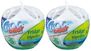 2 x Croc Odor XL Fridge Freshener Deodoriser Neutralises Food Smells Odours