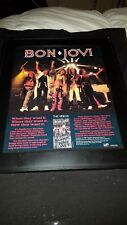 Bon Jovi Slippery When Wet The Videos Rare Original Promo Poster Ad Framed!