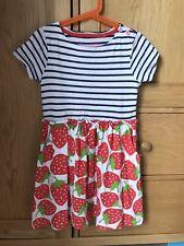 Mini Boden Girls Strawberry Print Hotchpotch Dress Age 7-8 Years.
