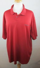 COLUMBIA Mens Dri Fit Polo Shirt, Size XXL, Dark Red, Stretchy, Textured C910