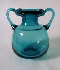 60s Henkel Vase Glas 18 cm Ichendorfer Glashütte amphora glass vetro pulegoso