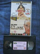 STRIPTEASE / G.I.JANE VHS VIDEO. EAN: 5023940072611. Moore,Reynolds . Cert. 15.