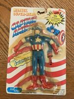 MOC 1989 JusToys Marvel Super-Hero Captain America Bendable Twistables 12062