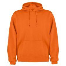 56213f8afd Felpe e tute da uomo arancione tinta unita con cappuccio   Acquisti ...
