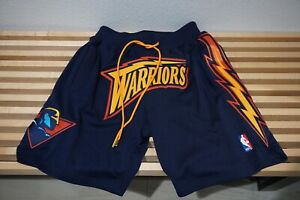 JUST DON GOLDEN STATE WARRIORS BASKETBALL SHORTS NBA MITCHELL & NESS SMALL NEW