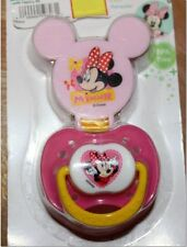 Disney Minnie - Mickey Mouse Clubhouse Pacifier With Clip Girl Infant Newborn